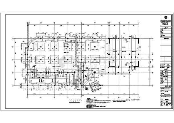 深圳某五层餐饮楼板柱结构施工图,带机械车库