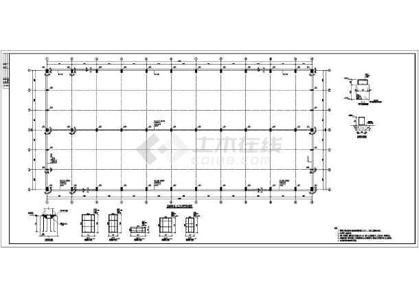 屋面结构布置图,墙面檩条布置图,柱间支撑图,钢架详图,各种节点详图等