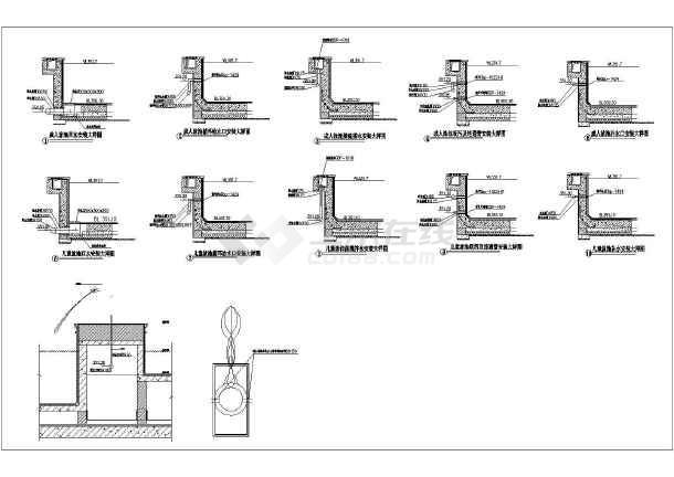 某市区一层框架结构游泳池给排水工程施工图