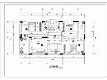 某别墅二层房间装饰装修设计施工图纸