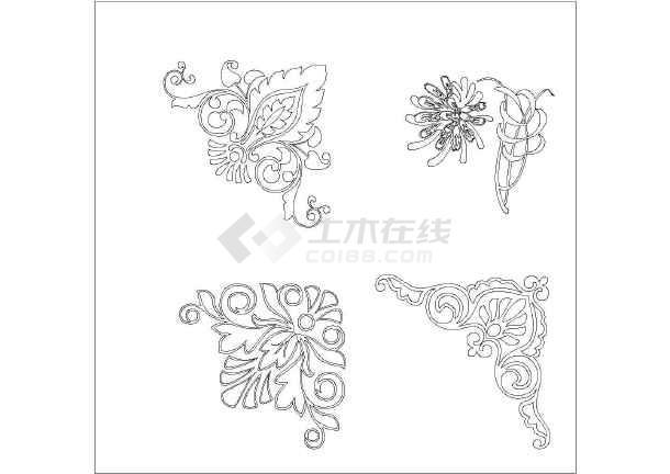 丰富别致的欧式花纹雕花图样设计图