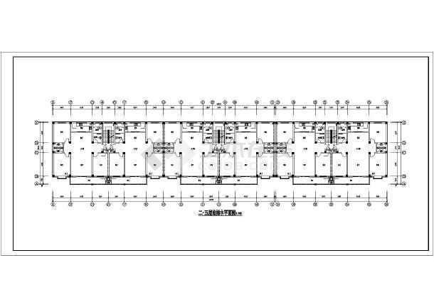 某地多层住宅楼给排水设计全套图纸-图2