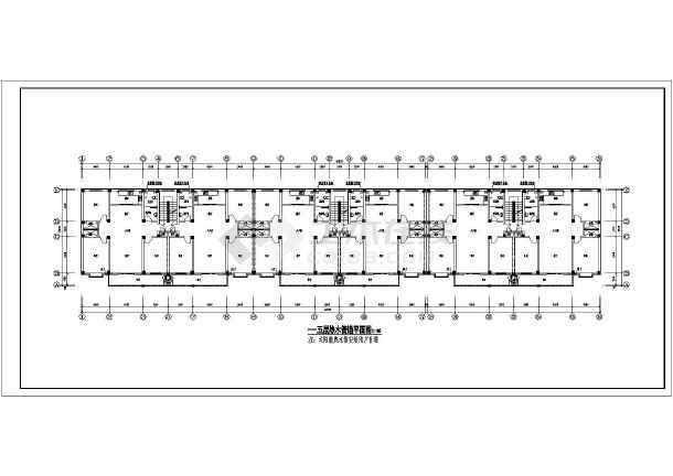 某地多层住宅楼给排水设计全套图纸-图3