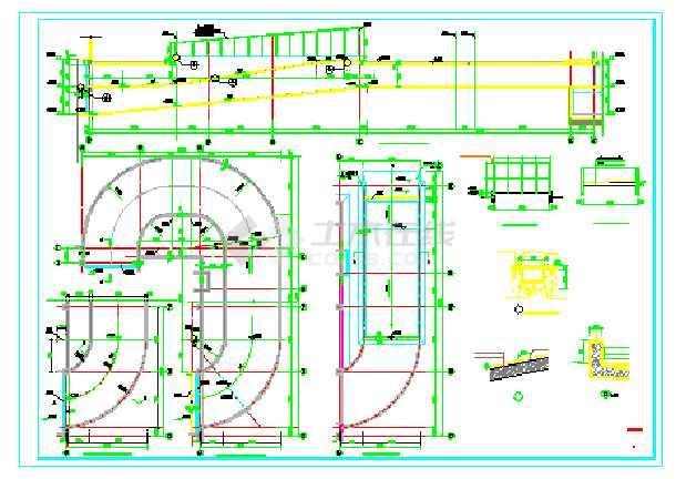 下两层车库汽车坡道结构设计施工图图片1-地下室汽车坡道梁平齐坡道图片