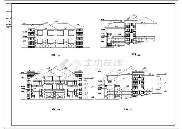 【淮南市】图纸全套山体建筑施工图42030b模式别墅图片