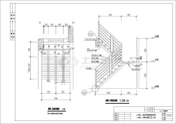 某钢结构楼梯详图