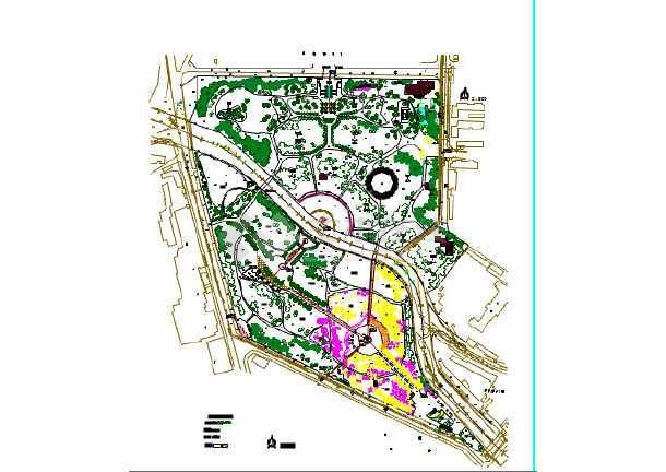 某地区小型公园景观设计植物配置详图