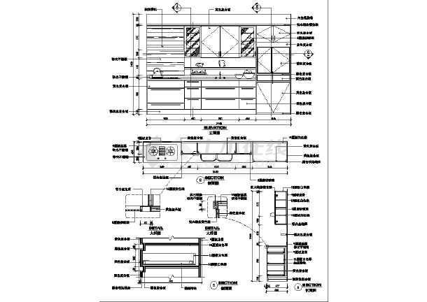 某中小型厨房全套装修施工设计图纸图片1