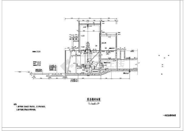 某小型水利工程穿堤泵站结构布置图