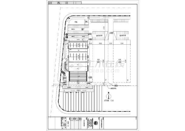 广西2层钢结构汽车4s店建筑方案设计图纸