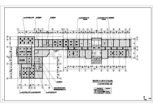 某地4层混凝土框架结构派出所办公楼建筑施工图纸