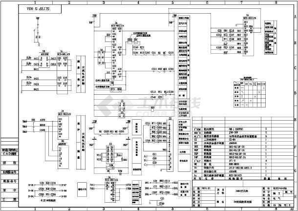 10kv开关柜系统图,原理图及接线图