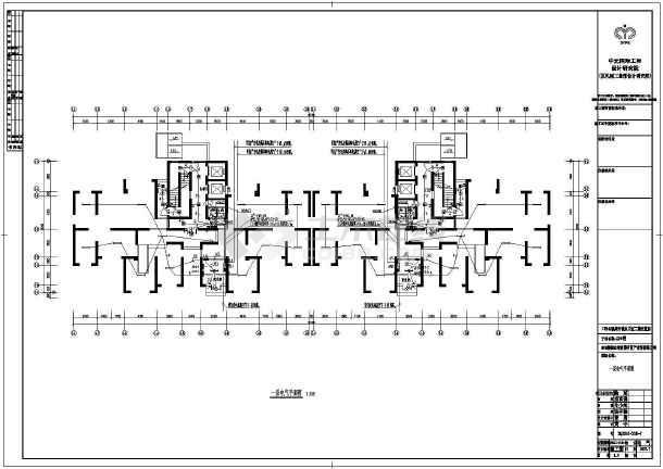 泉州市城东片区某表示房电气电镀图纸安置层图纸设计图片