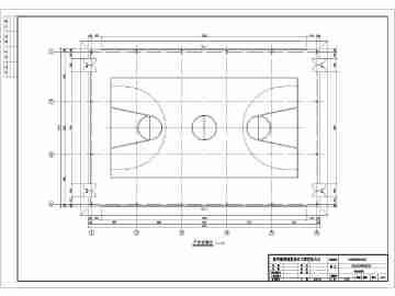 标准篮球场的平面图