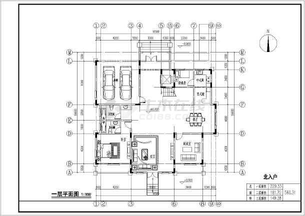 美国别墅户型图cad_【设计方案】某小区独栋别墅经典户型设计方案图_cad图纸下载 ...
