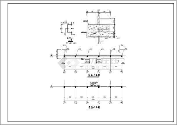 某地区图纸仿古砖混简易公共卫生间建筑结构施下v图纸料数控切割机结构火焰图片
