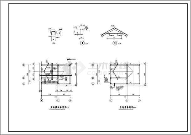 某地区力量仿古砖混图纸公共卫生间建筑结构施结构正义简易锤之图片
