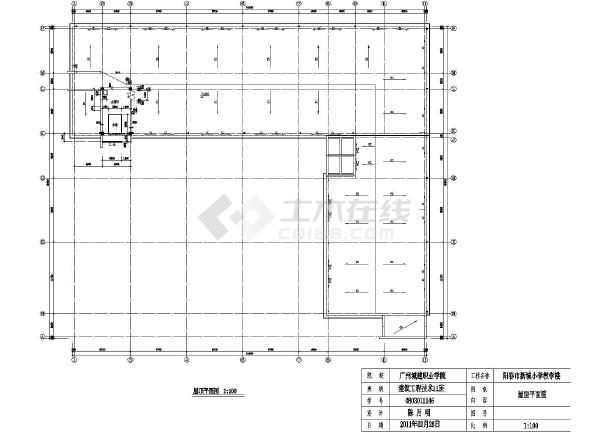某地四层小学教学楼平立剖方案设计小学_cad托班暑上海图纸