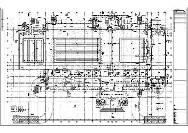 深圳某房屋游泳馆平面图布置细致地方详图农村六合无绝对建筑图网图片