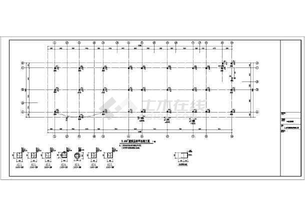 【马鞍山】某3层框架幼儿园结构设计施工图_cad图纸