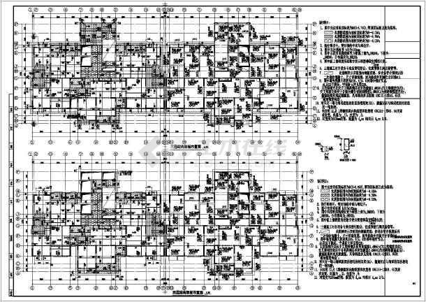 某25高层剪力墙带地下室符号大全施工图cad结构图例建筑图纸住宅图片