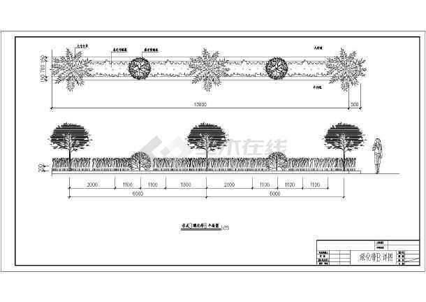 某收费站景观v景观道路设计施工图纸_cad图纸管家婆图纸最新密传图片