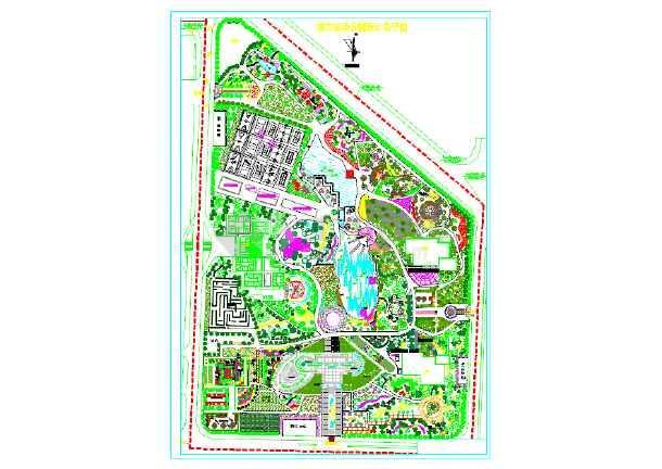 某地城市运动公园景观设计施工图纸图片1