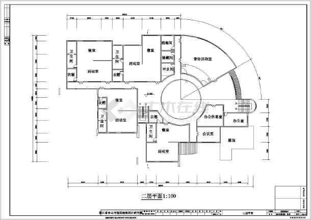 某幼儿园建筑设计规划图总图(平面图)图片3