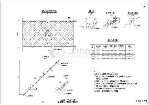 公路路基支挡,防护工程设计图