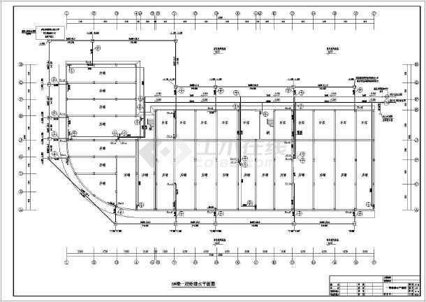 6层住宅楼给排水cad设计图(水表在楼梯间)