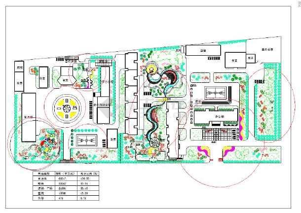 某校园景观规划绿化设计cad平面图下载图片1