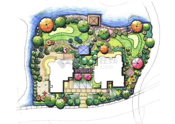某别墅景观设计-图1