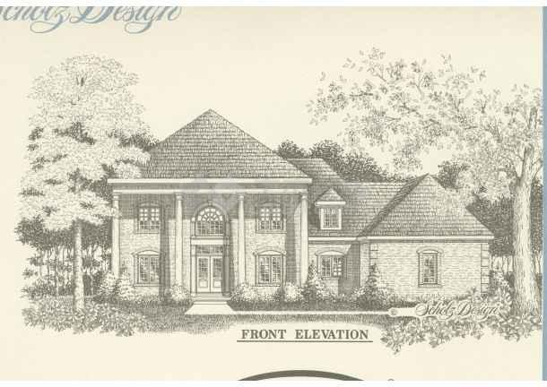 简单素描别墅图片