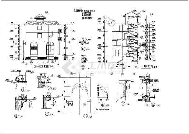 欧式二层带车库别墅设计图_欧式二层带车库别墅设计图