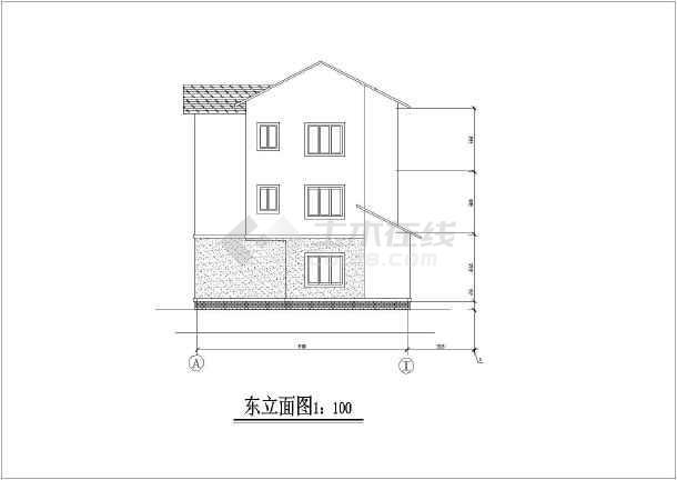 某地多层砖混结构住宅楼建筑设计施工图