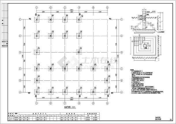 图纸 建筑结构图 厂房结构设计 框架结构厂房 某单层框架柱厂房锅炉房