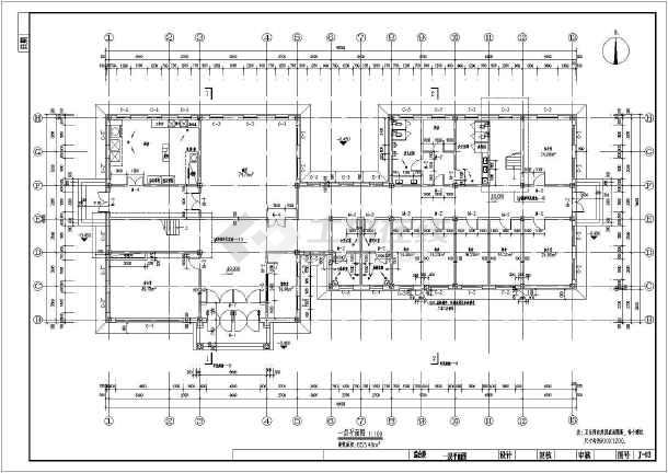 东北某收费站二层综合楼建筑设计施工图图片3