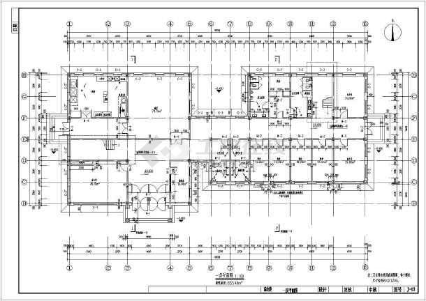东北某收费站二层综合楼建筑设计施工图高清图片
