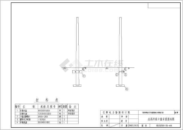 辽阳某电力公司供电工程(线路部分)施工图