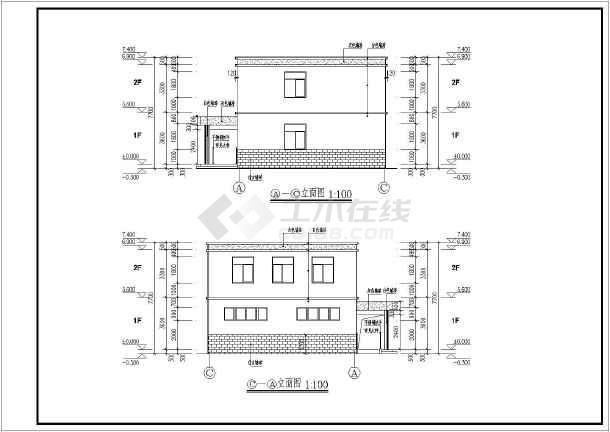 某五套厕所建筑设计施工图(含结构,水,电)