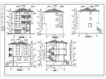 某地农村四层小住宅建筑方案设计图 (360x270)-120平方米农村房屋图片