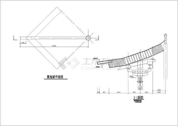 某框架结构景观休息亭全套结构施工图