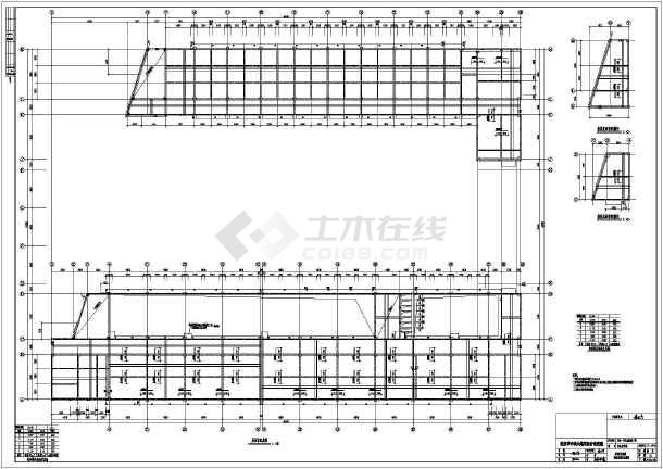 荆州某u型教学楼结构,给排水施工图纸