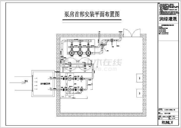 【上海】如皋港区滴灌工程平面结构布置图
