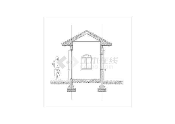 图纸 园林设计图 小品及配套设施 亭子与廊设计图 一套偏欧式的保安亭