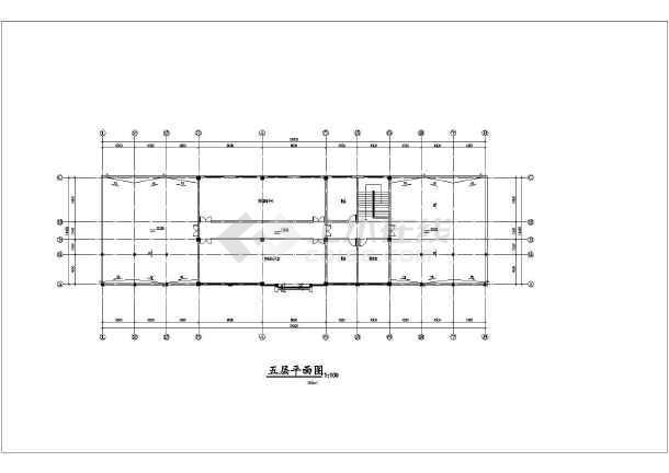 五层办公楼建筑平立面图图片3