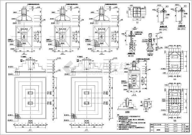 企业75吨吊车厂房建筑结构设计施工图