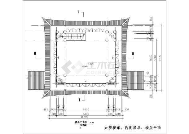 大观楼平、立面v全集全集(代表)什么方格网图纸t是意思图纸