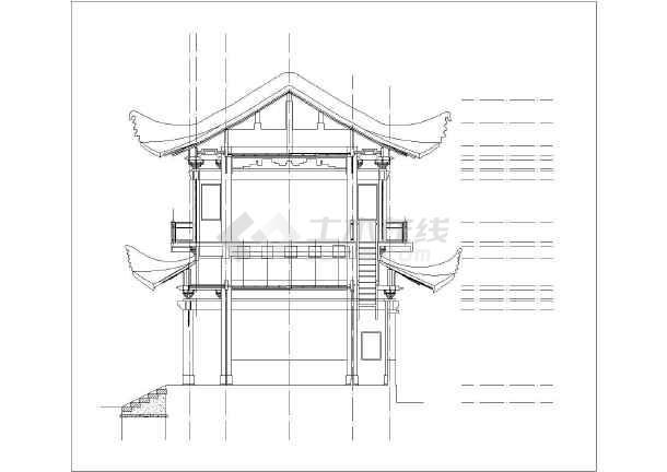 大观楼平、立面v图纸图纸(图纸)数据线cad全集