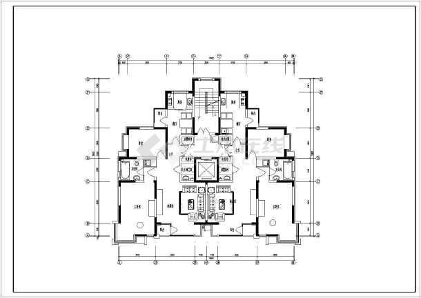 某高校一梯两户小高层公寓尺寸建筑设计CADcad配合v高层如何住宅图片